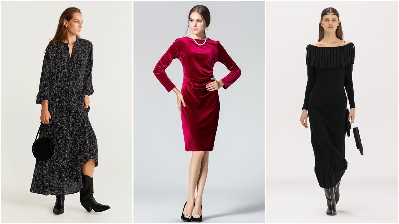 Hermosos vestidos de invierno para no congelarse de frío y lucir fashion 2