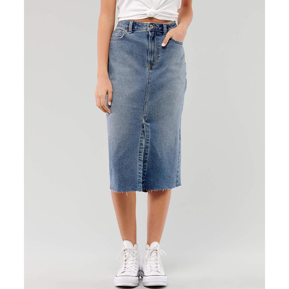 como hacer faldas de jeans viejos 44