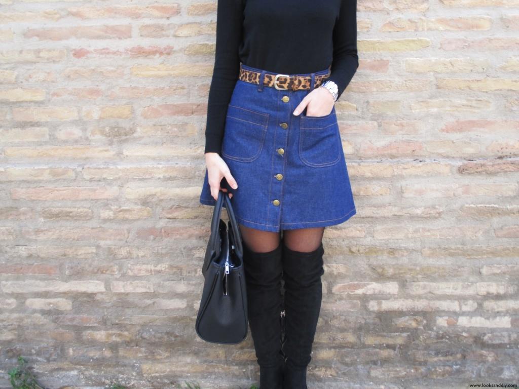 falda de botas